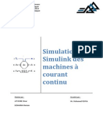 Simulation Simulink des machines à courant continu