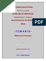 Muestra Temario Comun Bolsa Ayto Badajoz