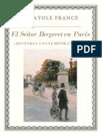 France Anatole - Bergeret en Paris