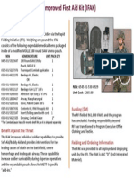IFAK itemization list for the army's new first aid kit