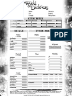 New World of Darkness Character Sheet 1 page interactive
