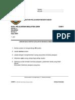 Soalan Percubaan Sejarah SPM 2009 Sabah