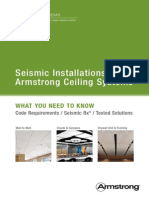 Seismic Installations and Armstrong Ceiling Systems