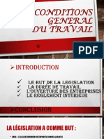Les Conditions General Du Travail
