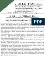Lettera alle Famiglie - 2 febbraio 2014