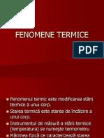 FENOMENE TERMICE