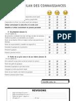 bilan des connaissances revisions 1