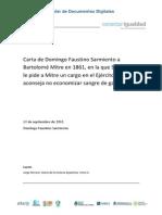 CArta de Domingo F Sarmiento a Bartolomé MItre sobre los gauchos