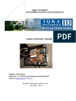 Light intensity meter project report