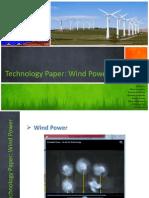 Technology Paper Wind Power