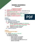 INGENIERÍA ECONÓMICA, Contenido 2012