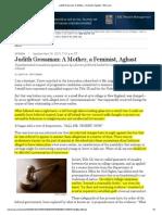 Judith Grossman_ a Mother, A Feminist, Aghast - WSJ