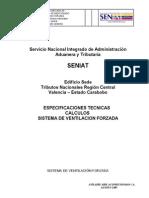 Especificaciones y Calculos de Ventilacion Forzada