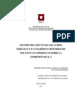 ESTUDIO DEL EFECTO DE LOS ACIDOS FERÚLICO Y P-CUMARÍNICO OBTENIDOS DE SOLANUM LYCOPERSICUM SOBRE LA EXPRESIÓN DE IL-2.pdf