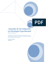 Libro de Resumenes de Psicologia Experimental 2009 11