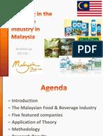 Industry Beverage in Malaysia - NCKU IMBA Financial Pricing Presentation (Spring 2013)