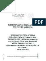 Convocatoria UMA 2014 Semarnat 3 Lineamientos