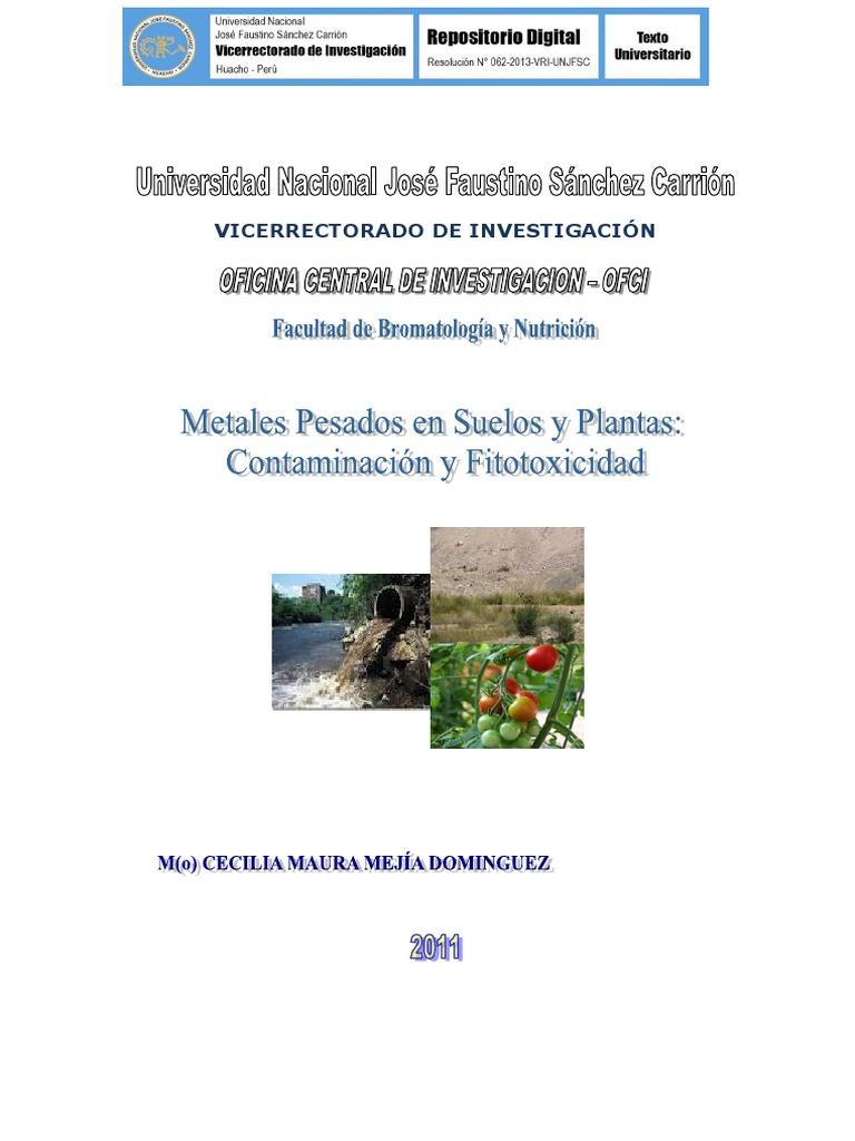Metales pesados en suelos y plantas contaminacin y fitotoxicidad urtaz Image collections