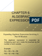 Expansion of Algebraic Expressions
