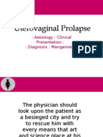 Uterovaginal Prolapse