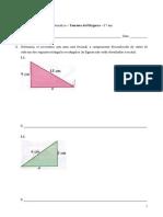 Teorema de Pitágoras - 1 - Matemática - 8.º ano