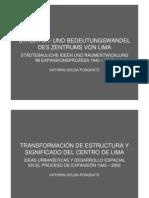 Presentación del libro Transformación de estructura y significado del centro de Lima