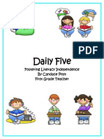 daily five overview- parents letters