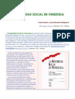 Seguridad Socaial en Veenzuela de Carlos Sabino