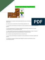 Caracterìsticas del Aprendizaje Significativo