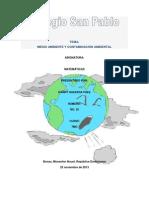 Medio Ambient y Contaminacion Ambiental