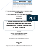 LA FORMACIÓN PROFESIONAL DEL CONTADOR PÚBLICO DE LA UNIVERSIDAD NACIONAL JOSÉ FAUSTINO SÁNCHEZ CARRIÓN PARA SU LABOR GERENCIAL