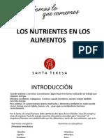 Los Nutrientes en Los Alimentos