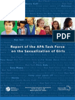Report of the APA Task Force on the Sexualization Of
