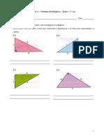 Teorema de Pitágoras - Áreas - Matemática - 8.º ano