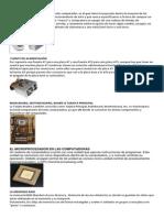 Componentes de Un Sistema de Computacion Resumen