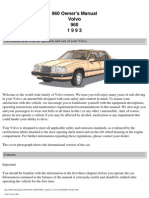 Volvo 960 Owners Manual 1993