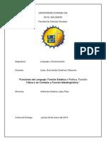 Informe Funnciones Del Lenguaje