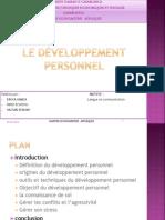 Le développement personne