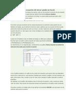 Funciones y Ecuaciòn Cubica Excel