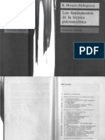 Los fundamentos de la técnica psicoanalitica = R. Horacio Etchegoyen
