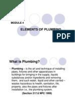 Module 4 - Elements of Plumbing
