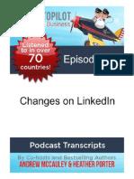 Changes on LinkedIn