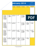 Oakmont United Methodist Calendar Feb 2014