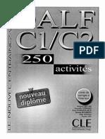 DALF C1 - C2. 250 Activites. Nouveau Diplome. Le Nouvel Entr
