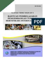 03 Bantuan Pebelajaran Pengembangan TUK&Sertifikasi Internasional