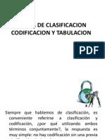 Teoria de Clasificacion y Codificacion