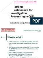 E QIP Training