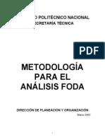 Analisis FODA = IPN Secretaría Técnica
