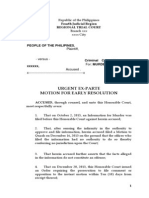 URGENT EX-PARTE MOTION FOR EARLY RESOLUTION