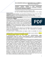 Constitucional e Metodologia Juridica - Desatualizado